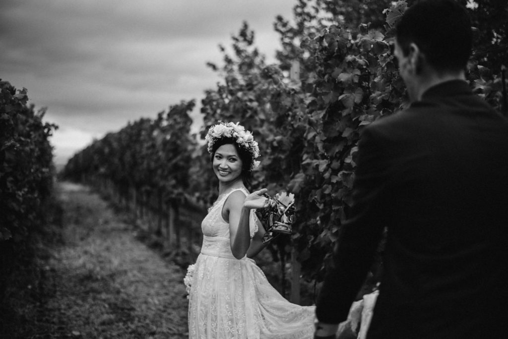 Svatba ve vinohradu