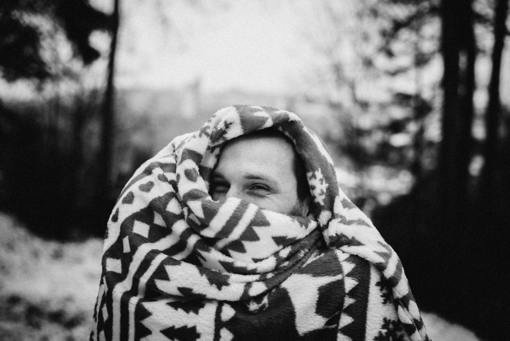 Focení s dekou