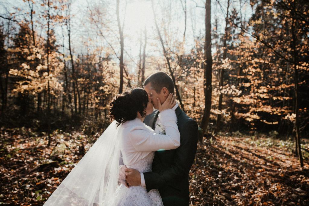 Podzimní svatba v lese