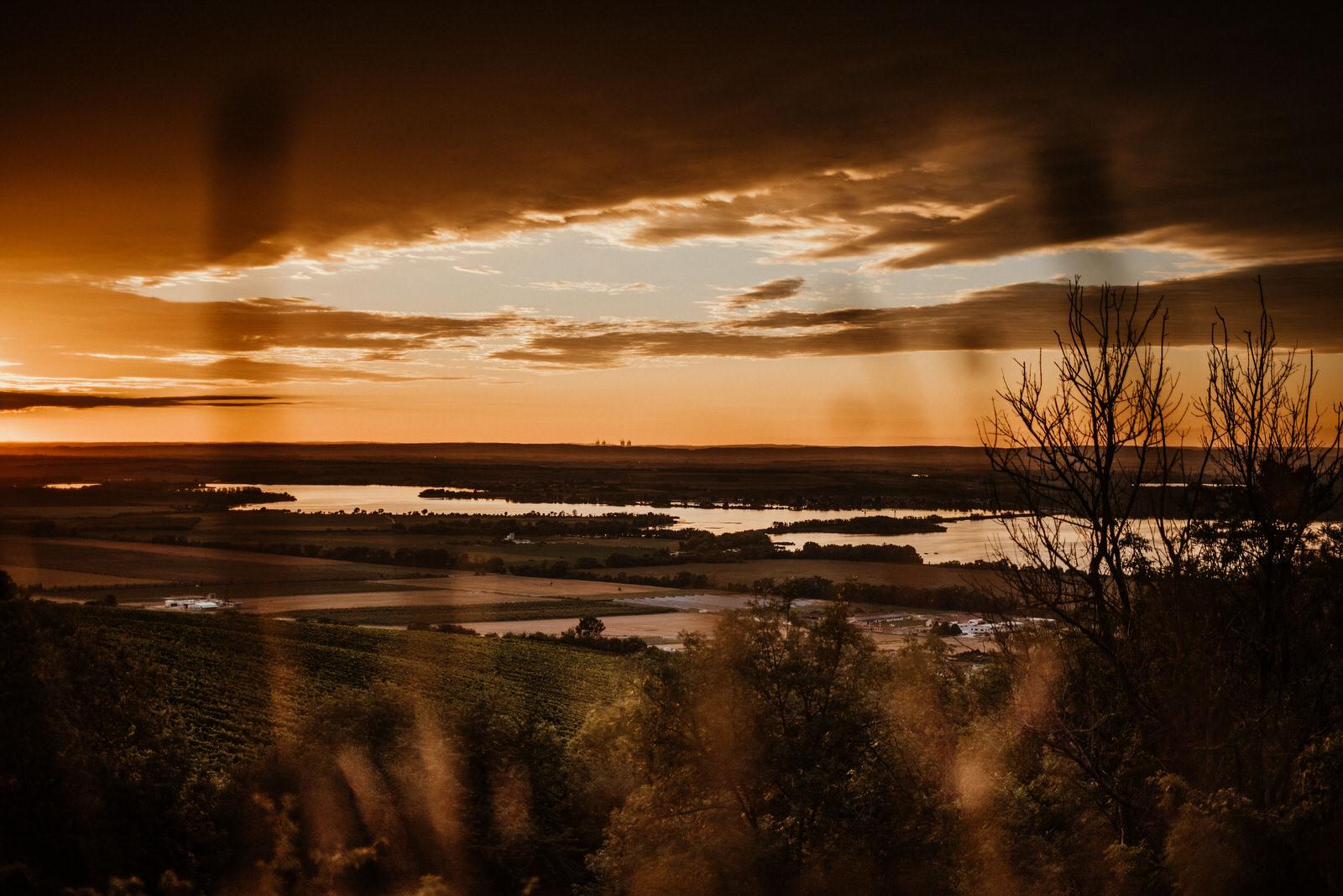 Pálava Nové mlýny západ slunce
