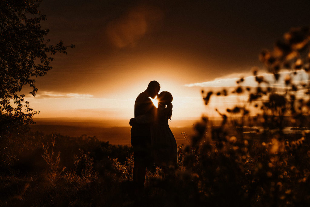 Pálava západ slunce Párové foto