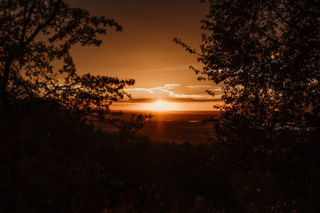 Pálava západ slunce