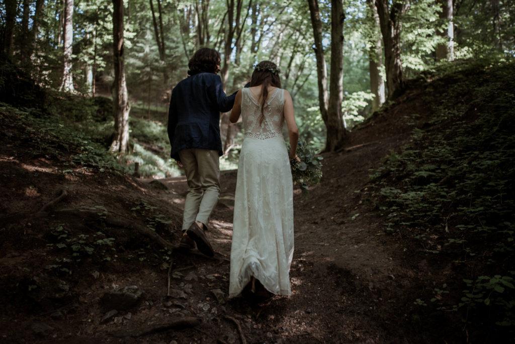 Forest wedding Rudice elopement